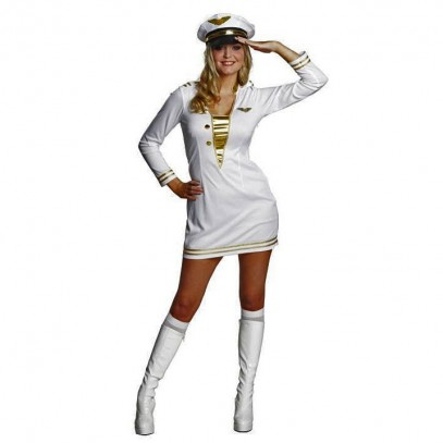 White Officer Kleid