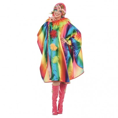Regenbogen Clown Cape für Damen