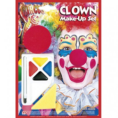Clown Make-Up Set mit Clown Nase