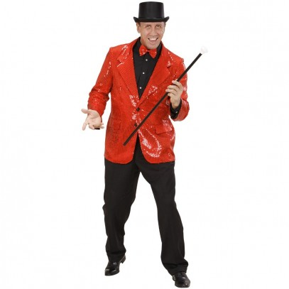 Rotes Showtime Pailletten-Jacket 1