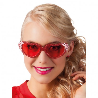 Love Partybrille rot