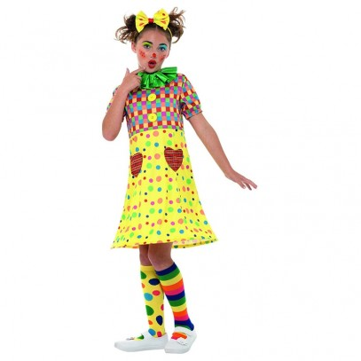 Buntes Girls Clowns Kinderkostüm 1