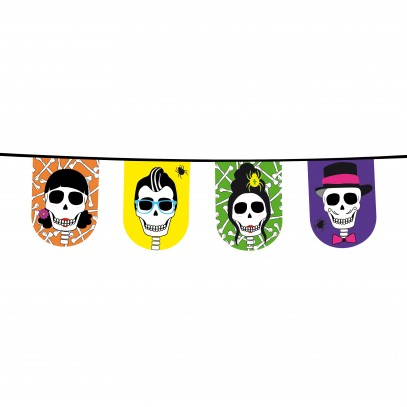 Wimpelkette Skull Party 8m