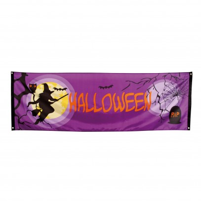 Halloween Party Banner Midnight