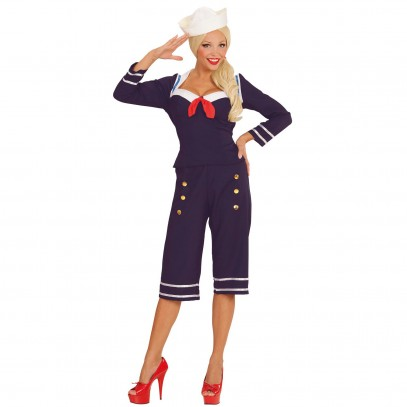 50er Pin-up Sailor Girl Kostüm 1