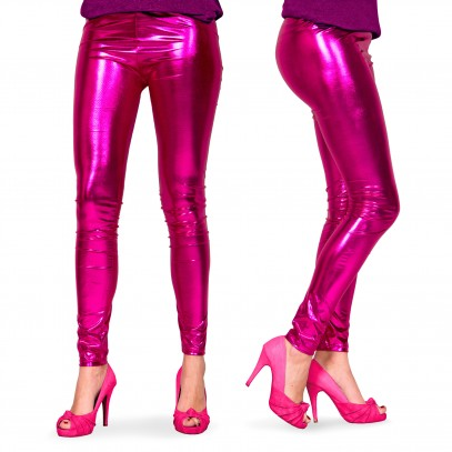 Leggings Metallic pink