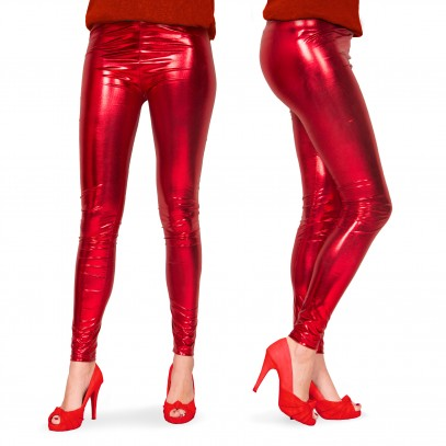 Leggings Metallic rot