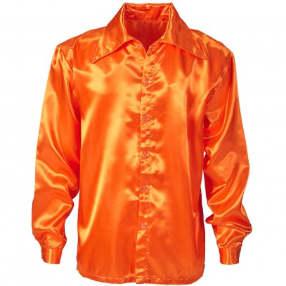70er Classic Discohemd orange 1