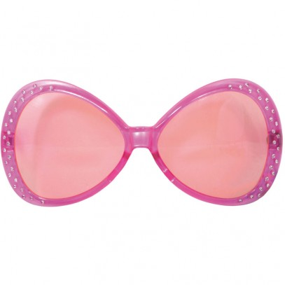 70s Diamond Partybrille rosa