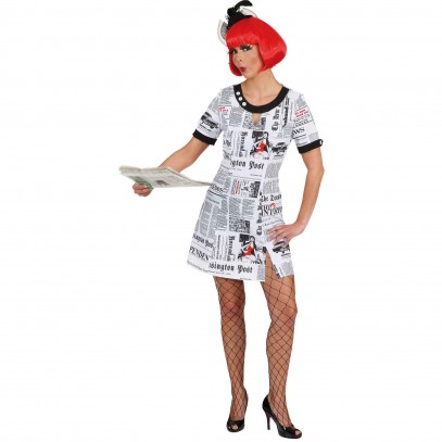 Newspaper Journalistin Kleid