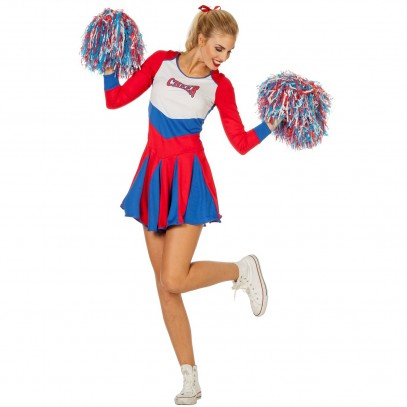 American Cheerleader Girlie Kostüm