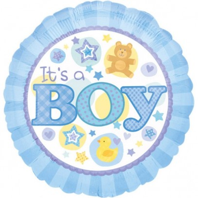 Babyparty Folienballon It´s a Baby Boy blau