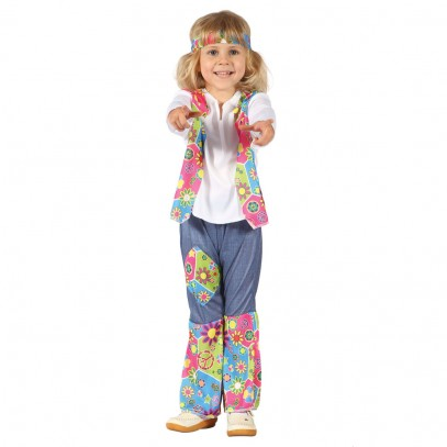 Mini Hippie Girl Kinderkostüm