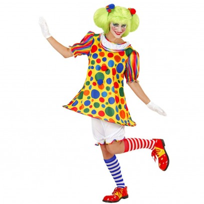 Buntes Clown Girly Kostüm für Damen