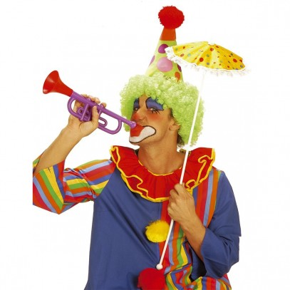 Bunte Clown-Trompete mit Sound-Effekt