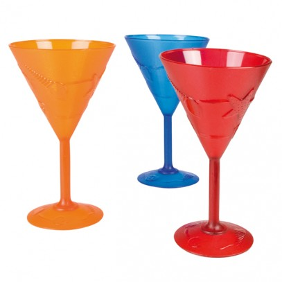 Hawaii Cocktailglas in 3 Farben