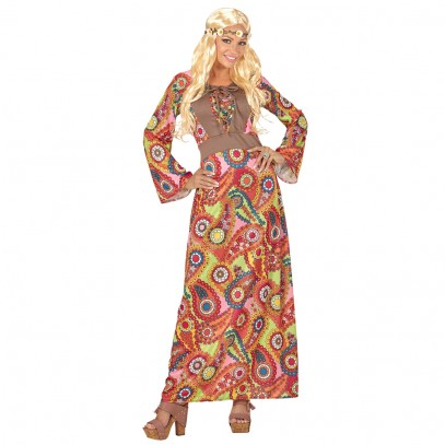 Colorful Hippie Lady Kostüm für Damen
