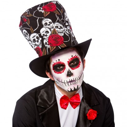 Day of The Dead Totenkopf Zylinder