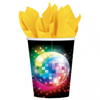 Disco Fever Pappbecher 8er-Set