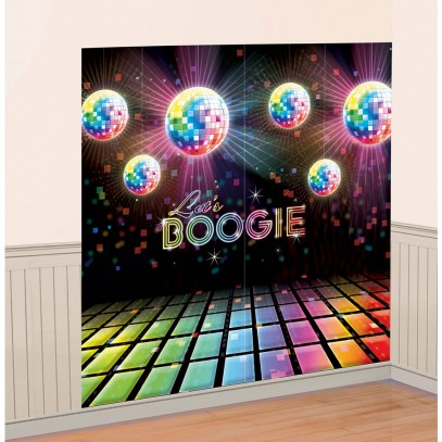 Disco Fever Raum-Dekoration 2er-Set