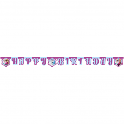 Frozen Anna und Elsa Happy Birthday Banner
