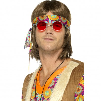 Funky Hippie Brille rot
