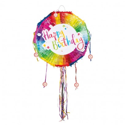 Happy Birthday Piñata Rainbow