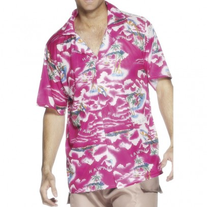 Honolulu Hawaii Hemd pink
