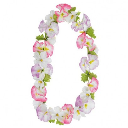 Hawaii Kette lila-pink