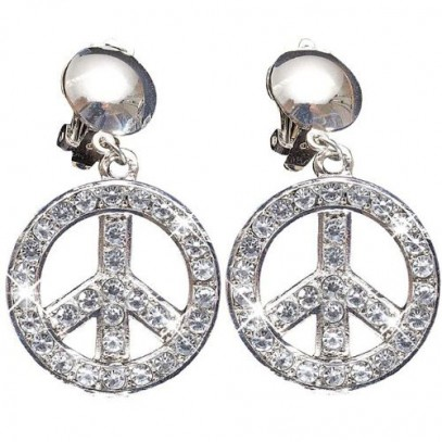 Love & Peace Strass Ohrringe