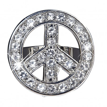 Love & Peace Strass Ring