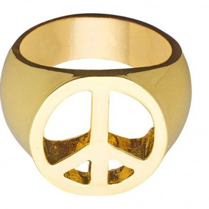 Love & Peace Gold Ring