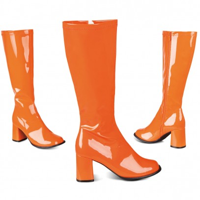 Seventies Lackstiefel orange