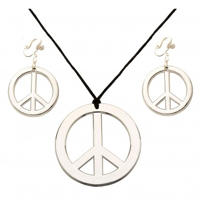 Love & Peace Kette und Ohrring-Set