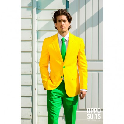 OppoSuits Green and Gold Anzug