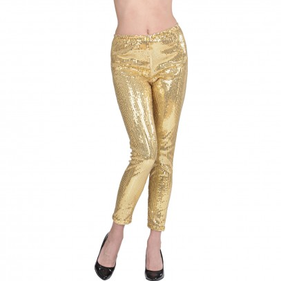 Pailletten-Leggings gold