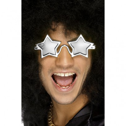 Disco Sterne Party Brille silber
