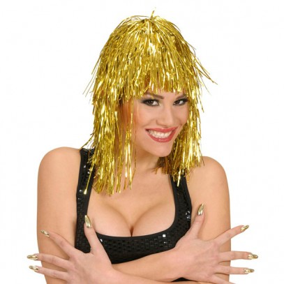 Chrissy Party Disco Perücke gold für Damen