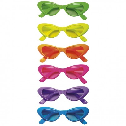 Neon Partybrille Cat