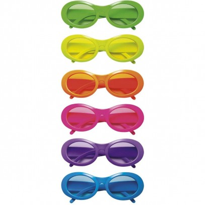 Ovale Partybrille Neon