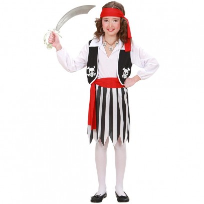 Pirate Girl 4-teiliges Piraten Kostüm