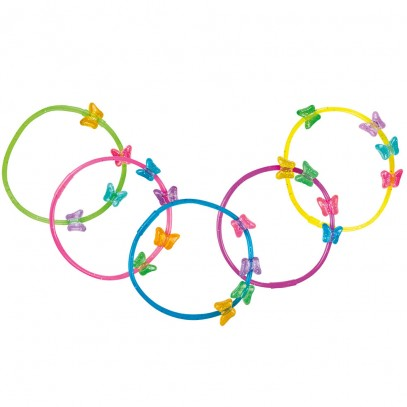 Bunte Schmetterlings Armbänder 5er-Set