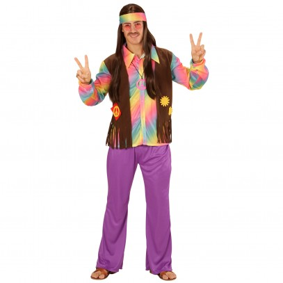 Rainbow Hippie Boy Kostüm 1
