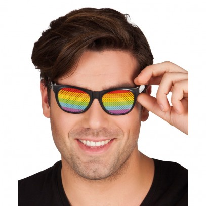 Rainbow Retro Brille 1