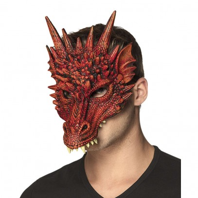 Red Dragon Drachen Maske 1