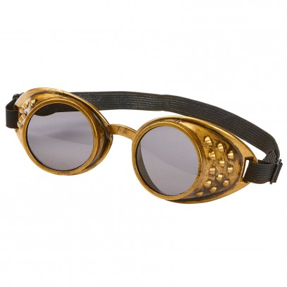 Retro Steampunk Brille bronze