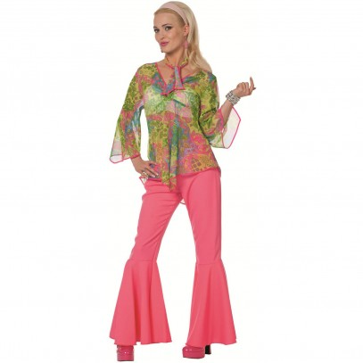 Seventies Flower Power Kostüm Twiggy