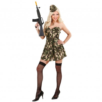 Sexy Army Girl Kostüm 1