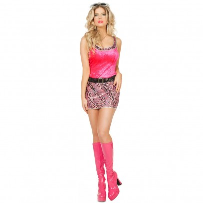 Sexy Disco-Kleid Pink Penny