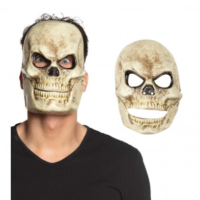 Skull Head Moveable Jaw Maske